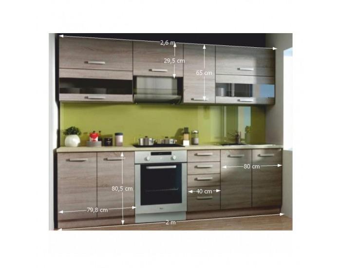 Kuchyňa Kalen 260 - dub sonoma truflový