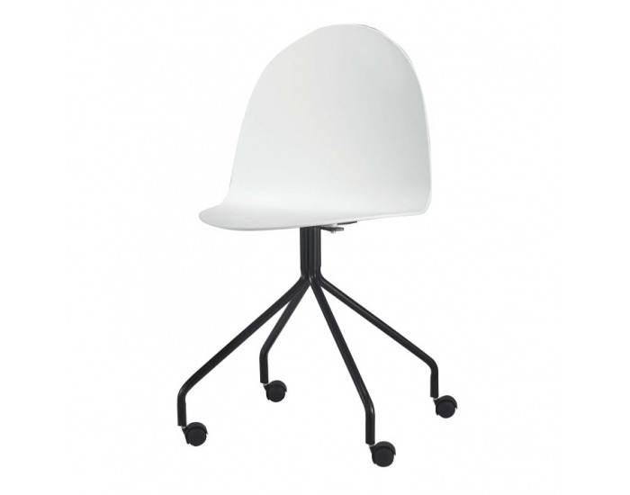 Kancelárska stolička Bruna - biela / čierna