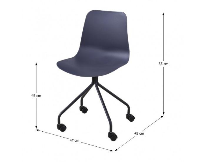 Kancelárska stolička Danela - tmavosivá