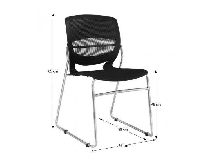 Kancelárska stolička Imena - čierna / chróm