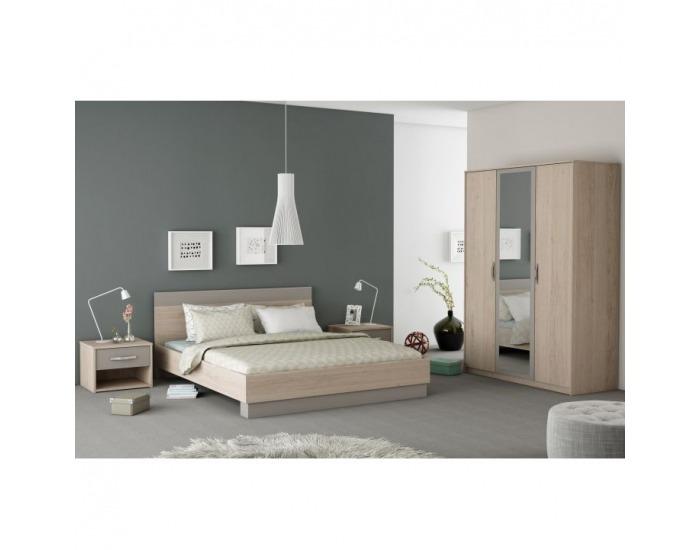 Nočný stolík Graphic Typ 5 - dub arizona / sivá