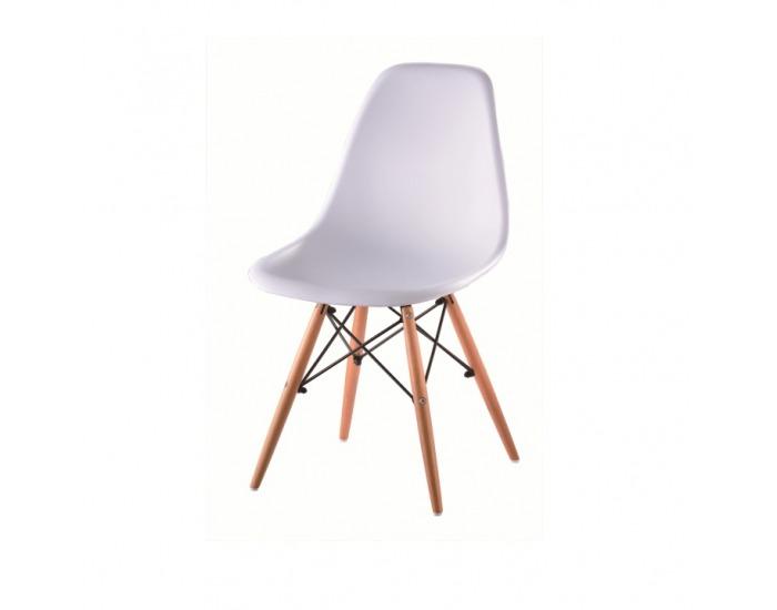 Jedálenská stolička Cinkla 2 New - biela / buk