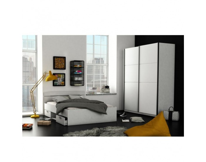 Manželská posteľ s úložným priestorom Michigan 160 - biela