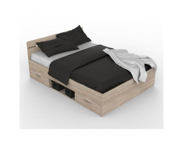 Manželská posteľ s úložným priestorom Michigan 160 - dub sonoma