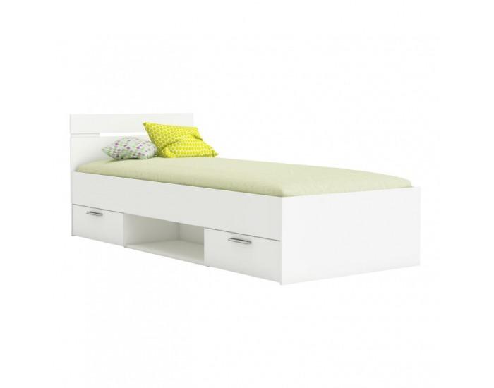 Jednolôžková posteľ s úložným priestorom Michigan 90 - biela