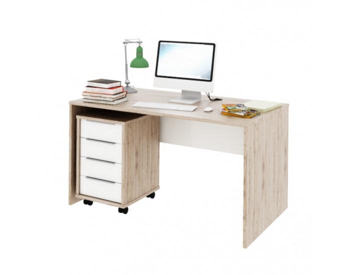 Písací stôl Rioma Typ 11 - san remo / biela
