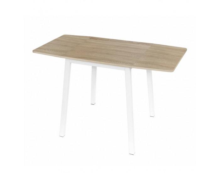 3ac421487d310 Rozkladací jedálenský stôl Mauro - dub sonoma / biela ...