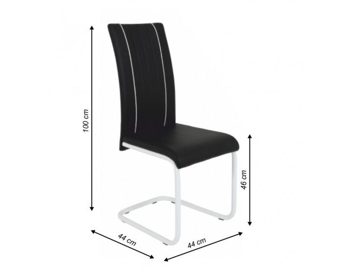 Jedálenská stolička Lesana - čierna / chróm