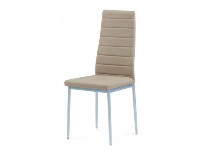 Jedálenská stolička Coleta New - béžová / strieborná