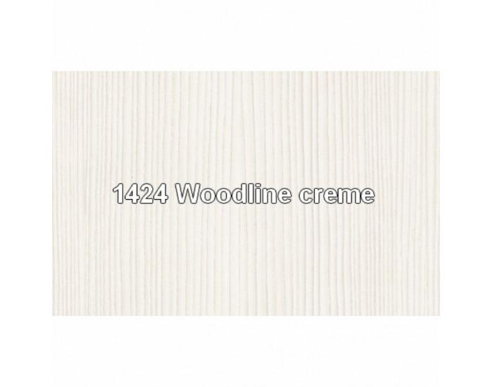 Šatníková skriňa Tiffy 2D2S 2D - woodline krém