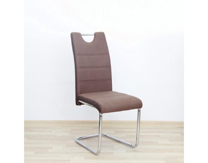 Jedálenská stolička Izma - hnedá / chróm