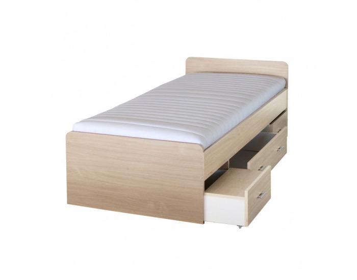 Manželská posteľ s úložným priestorom Duet 80262 90 - javor