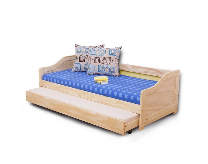 Drevená posteľ s prístelkou Laura 90 - borovica