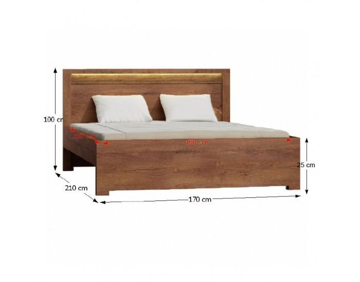 Manželská posteľ s roštom Infinity 19 160 - jaseň svetlý