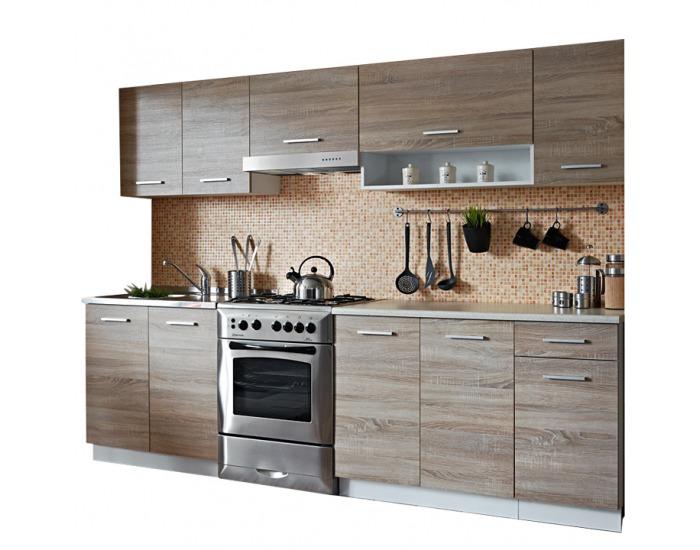Kuchyňa Cyra New 250 - dub sonoma / biela