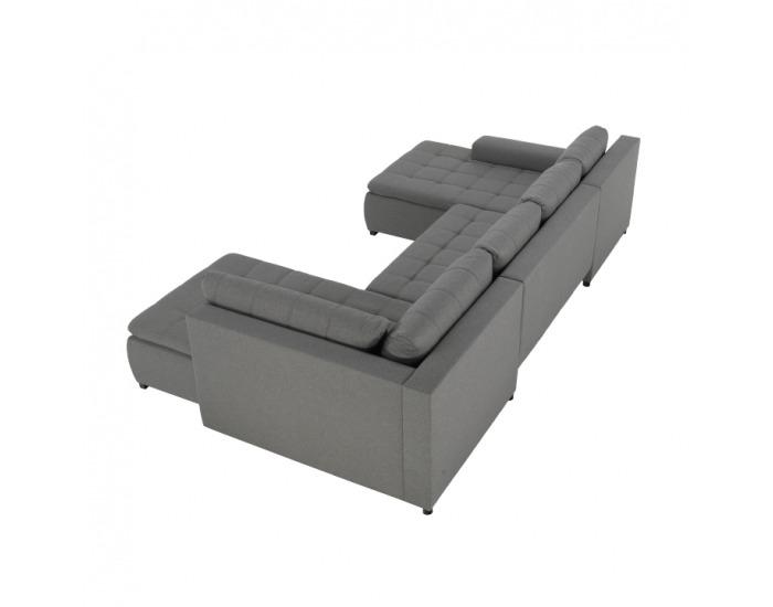 Rohová sedačka U s rozkladom a úložným priestorom Limone P - sivá