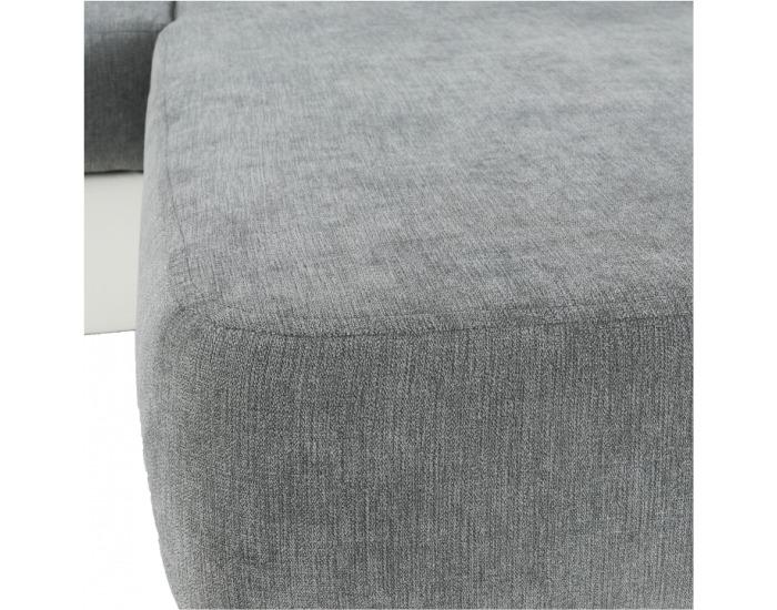 Rohová sedačka s rozkladom Santiago RM P - sivá / biela