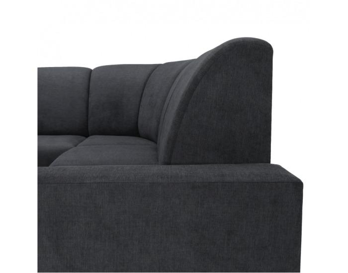 Rohová sedačka U s rozkladom a úložným priestorom Iza New L - sivá