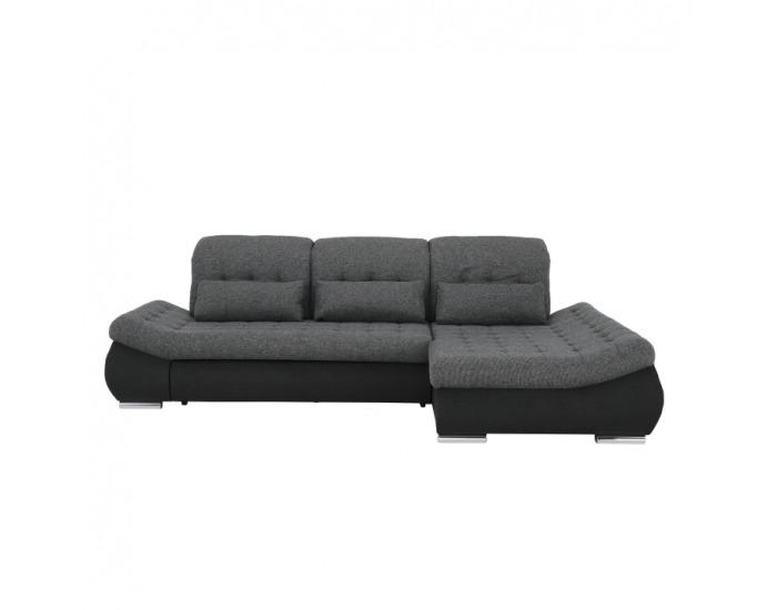 Rohová sedačka s rozkladom Delmara P - sivá / tmavosivá