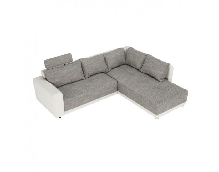 Rohová sedačka s rozkladom a úložným priestorom Orlan L/P - béžová / hnedá melírovaná