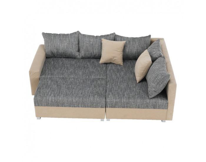 Rohová sedačka Ida New P - béžová / sivobéžová melírovaná