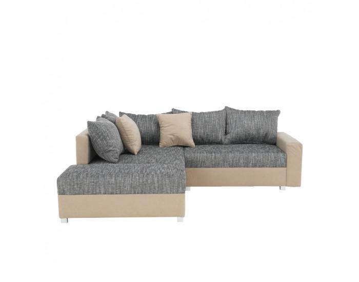 Rohová sedačka Ida New L - béžová / sivobéžová melírovaná