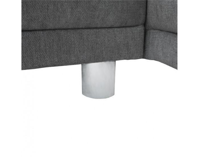 Rohová sedačka s rozkladom a úložným priestorom Lena P - sivá