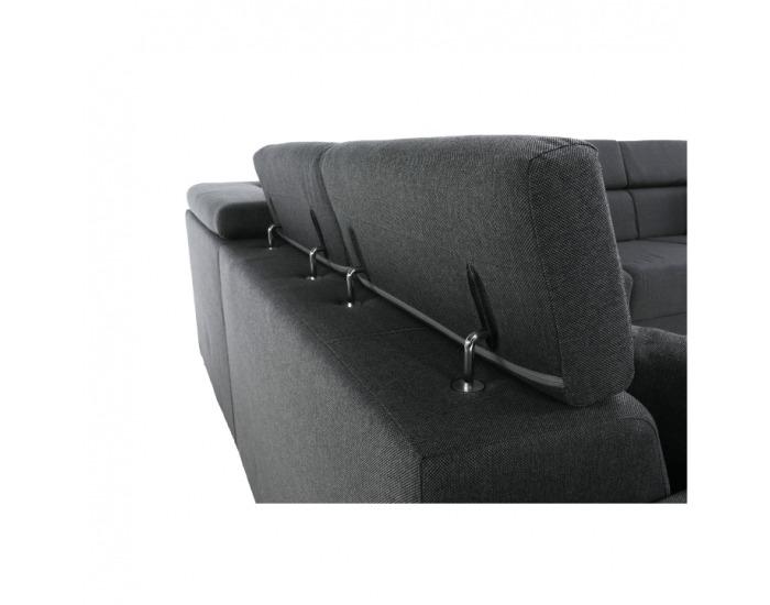Rohová sedačka Cari L - tmavosivá