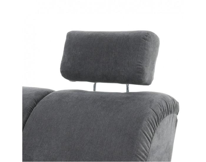 Rohová sedačka s rozkladom a úložným priestorom Santiago L - sivá