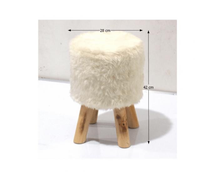 Taburetka Alpia - biela / borovica