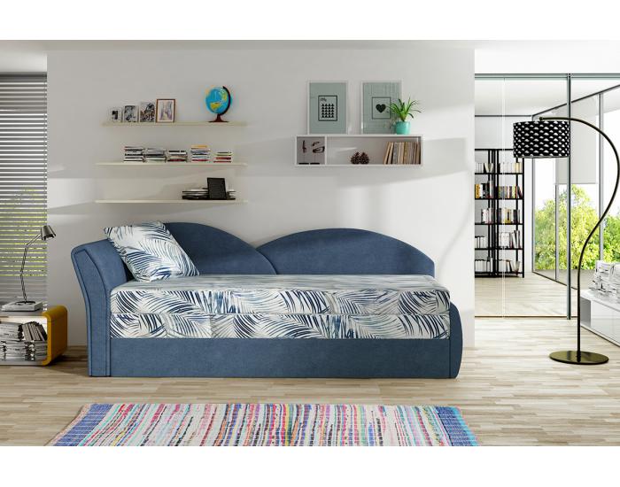 Rozkladacia pohovka Arco L - vzor / modrá