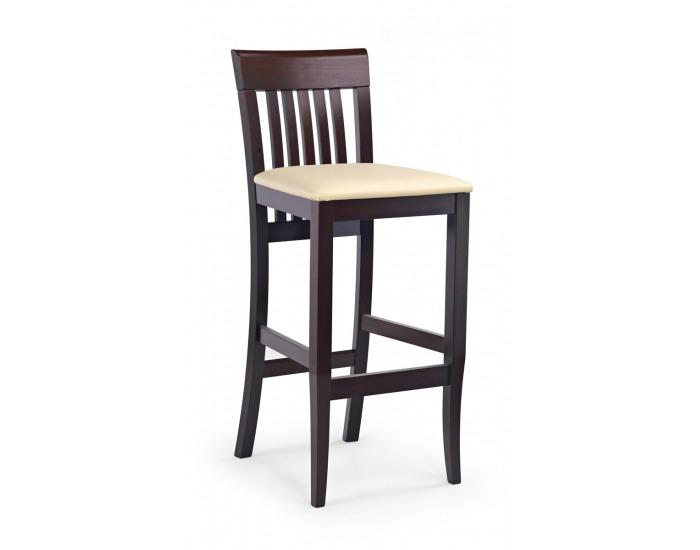 Barová stolička Hoker Mix - tmavý orech / krémová