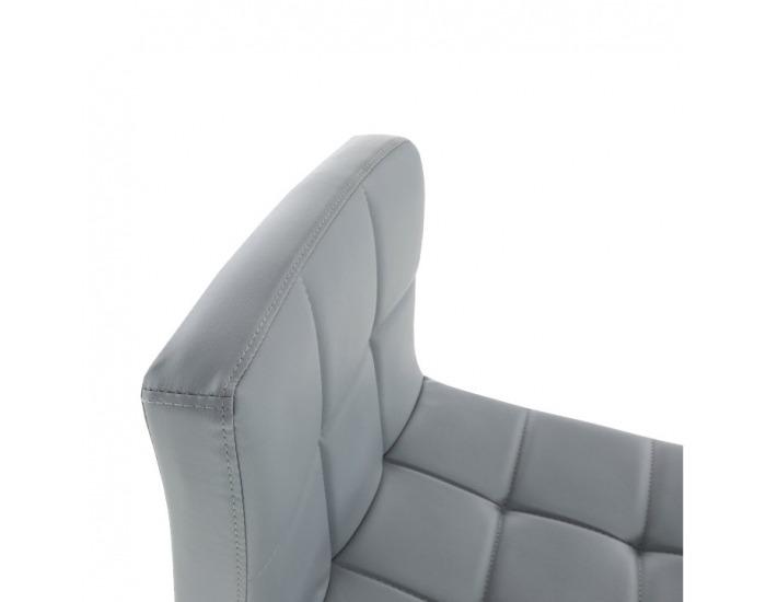 Barová stolička Kandy New - sivá / chróm