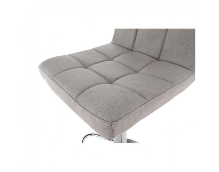 Barová stolička Kandy New - sivohnedá taupe / chróm