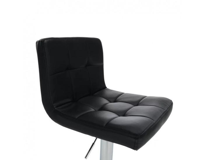 Barová stolička Kandy New - čierna / chróm