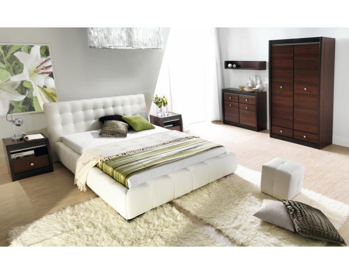 Čalúnená manželská posteľ Forrest 160 - biela