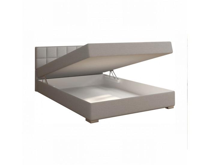 Boxpringová manželská posteľ Ferata 120x200 cm - svetlosivá