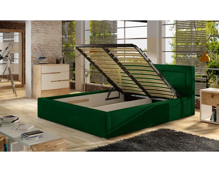 Čalúnená manželská posteľ s roštom Branco UP 140 - tmavohnedá (Sawana 26)