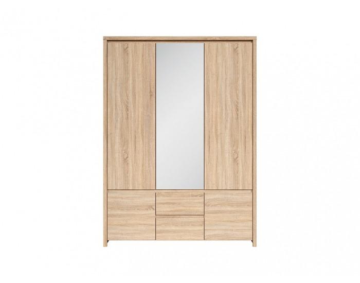 Šatníková skriňa so zrkadlom Kaspian SZF5D2S - dub sonoma