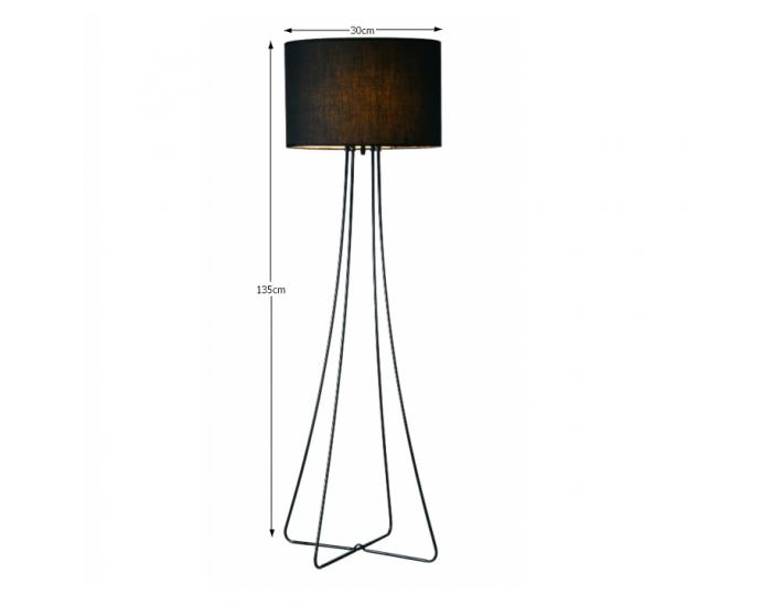 Stojacia lampa Cinda Typ 12 F4813 - čierna