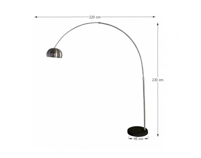 Stojacia lampa Cinda Typ 17 F1034-L - čierna / oceľ