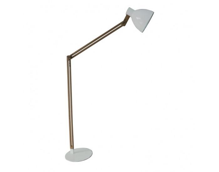 Stojacia lampa Cinda Typ 19 YF6044 - prírodná / biela