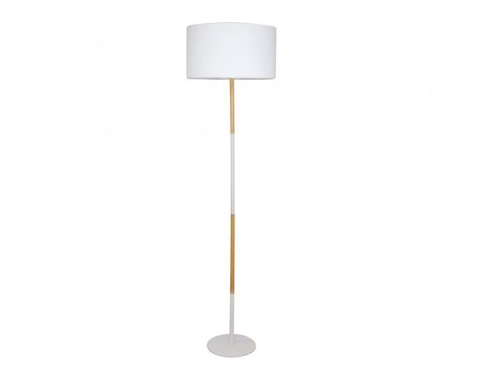 Stojacia lampa Cinda Typ 20 YF6046 - biela / vzor dreva