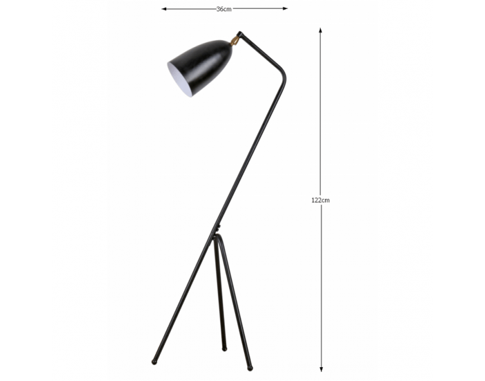 Stojacia lampa Cinda Typ 23 YF6250-B - čierna