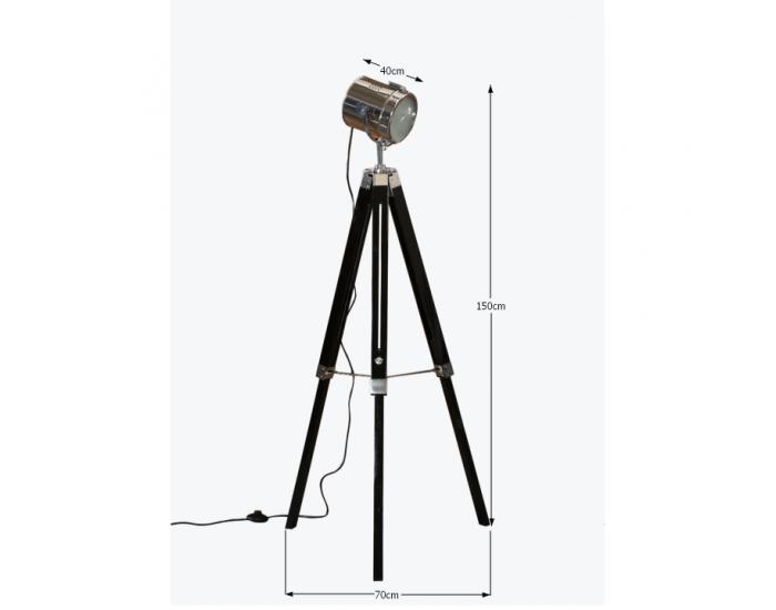 Stojacia lampa Cinda Typ 26 YF819-B - čierna / chrómová