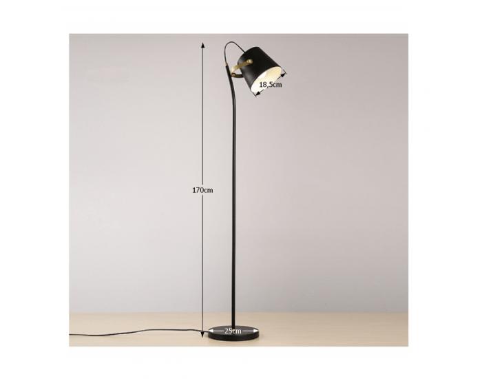 Stojacia lampa Cinda Typ 3 YF6047 - čierna / bronzová