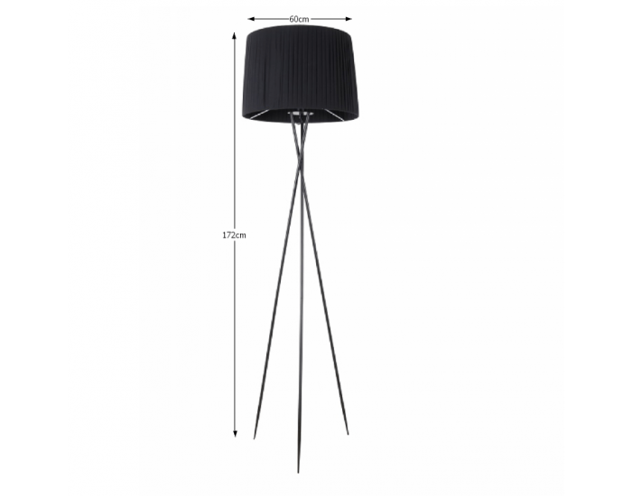 Stojacia lampa Cinda Typ 9 YF10B - čierna