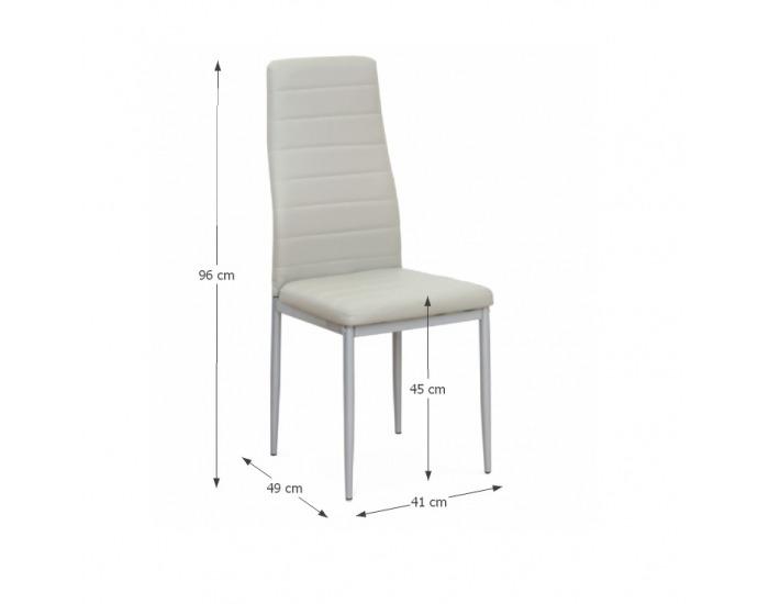 Jedálenská stolička Coleta New - sivá / strieborná