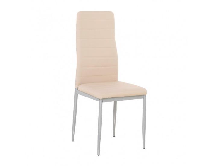 Jedálenská stolička Coleta Nova - púdrová ružová / sivá