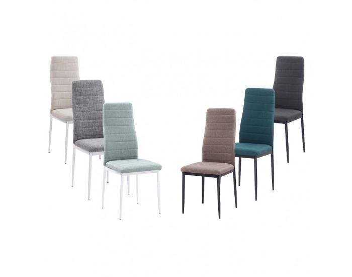 Jedálenská stolička Coleta Nova - béžová / biela